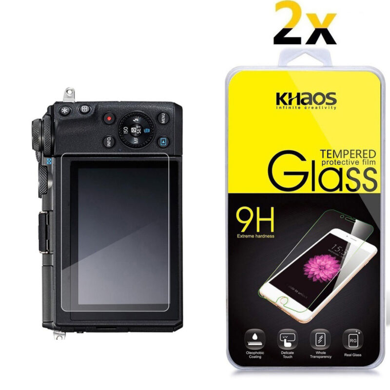 2-Pack Khaos For Canon EOS M6 Tempered Glass Screen Protector