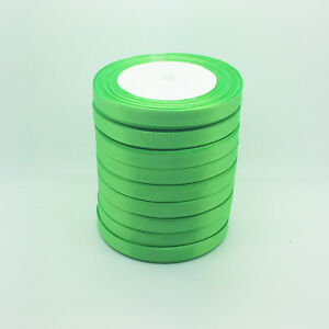 50 yards 3 8 10mm grass green bulk satin ribbon craft for Sewing and craft supplies