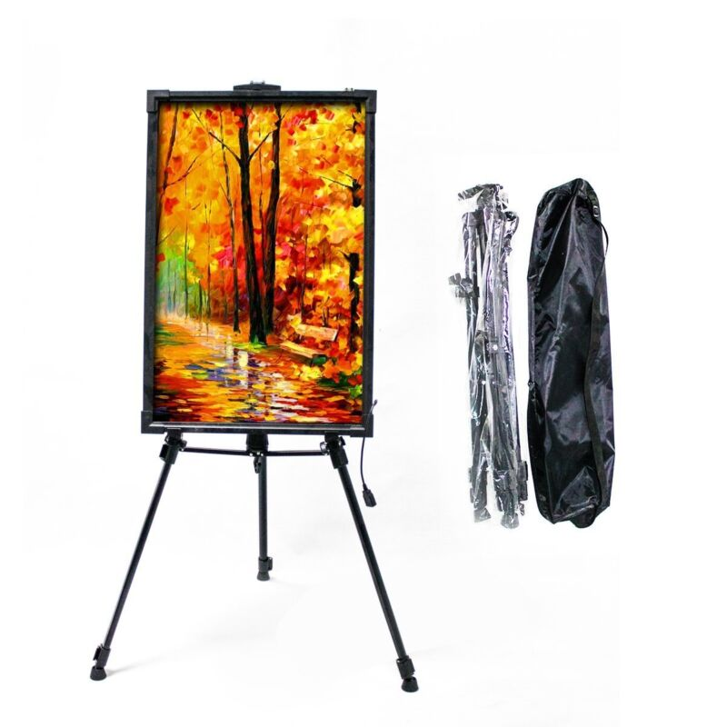 "Hosim 61"" Tall Aluminum Metal Tripod Display Stand Triangular Easel for Board"