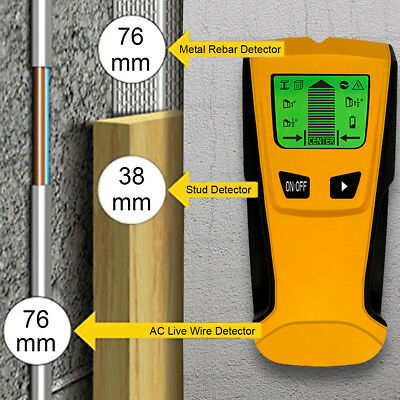 3 in 1 LCD Intelligent Stud Scanner AC Live Wire Finder Wood Metal Detector US