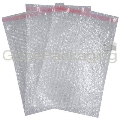 100 x BP3 STRONG PLAIN CLEAR PEEL & SEAL BUBBLE POUCHES BAGS 180x235mm (7x9