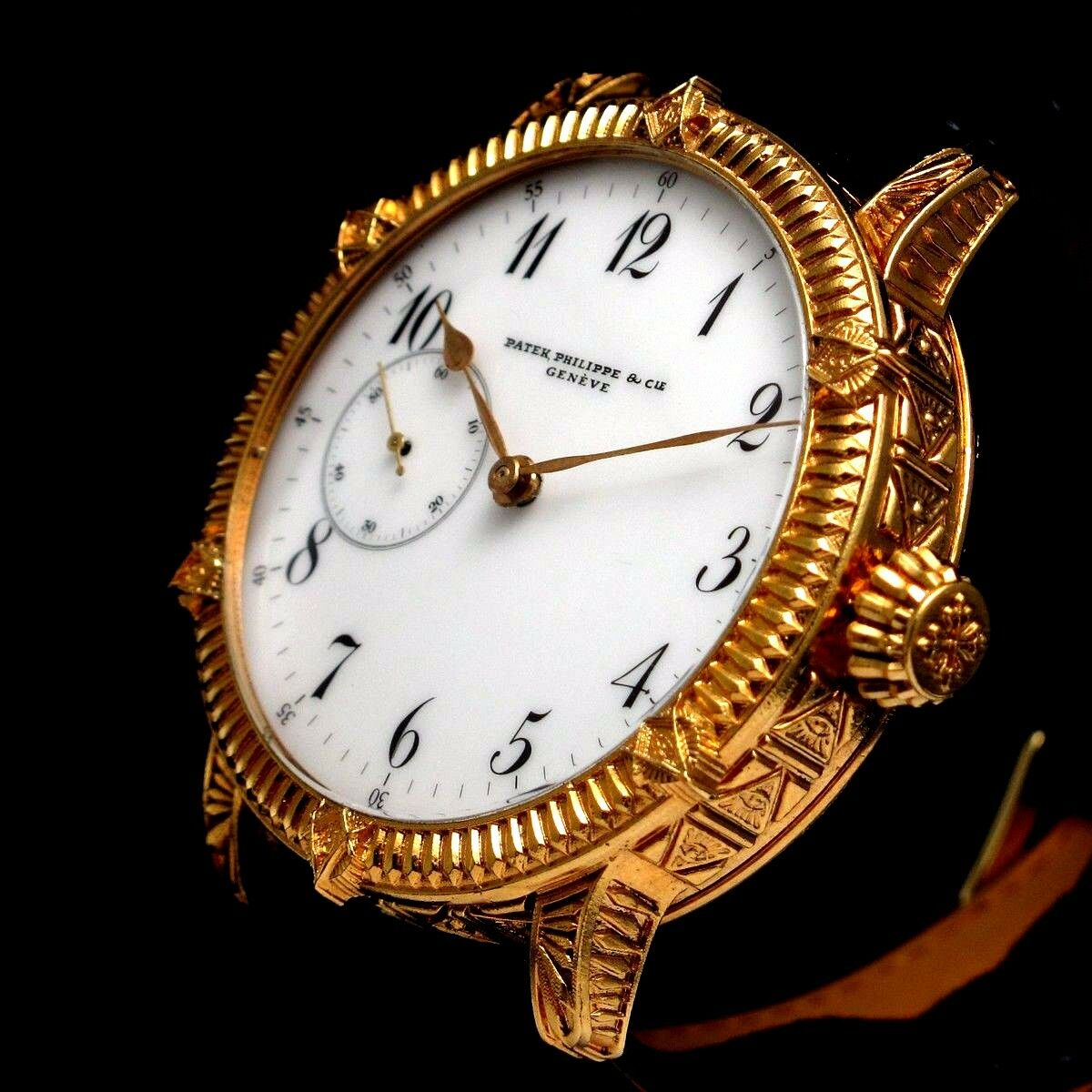 Vintage Mens Wristwatch PATEK PHILIPPE Mechanical Swiss Gold Men's Wrist Watch - watch picture 1