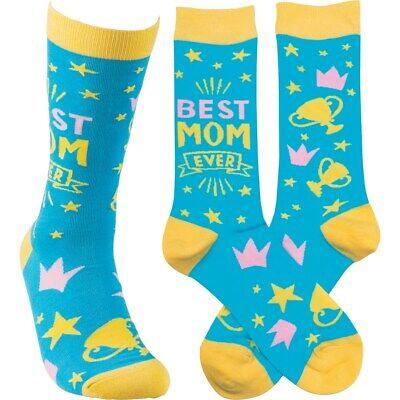 Best Mom Ever Socks Primitives by Kathy Unisex