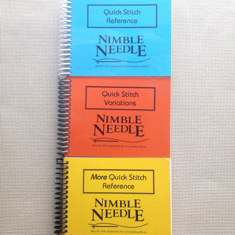 Quick Stitch Book Collection Nimble Needle NJ 3 books charted needlepoint