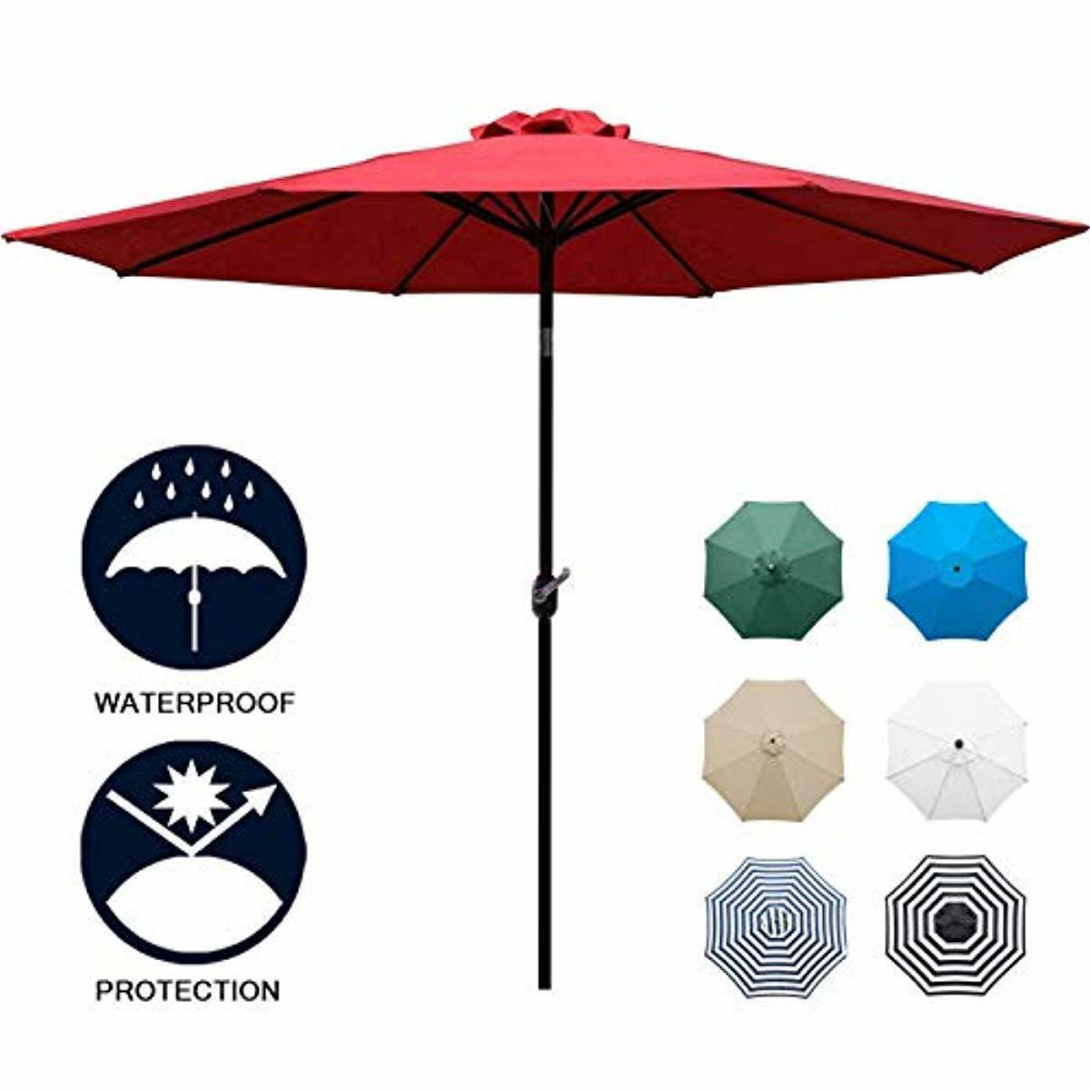 9 ft Foot Waterproof UV Patio Big Large for Family Size Wide