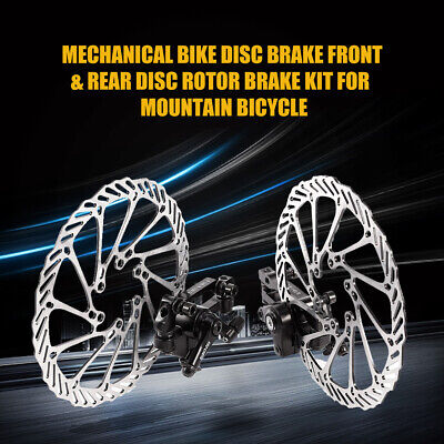 2pcs Bike Disc Brake Front Rear Disc 160 mm Rotor Brake Kit For Mountain -
