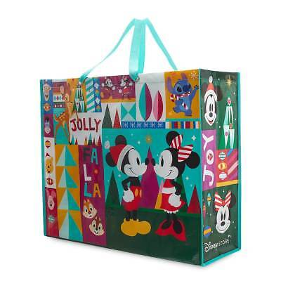 Disney Christmas Holiday Reusable Gift Tote Bag Mickey Mouse Minnie X LARGE NEW