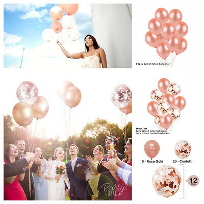 Rose Balloon (Rose Gold Foil Balloon Confetti Balloon Bouquet Set WeddingBirthday Party)