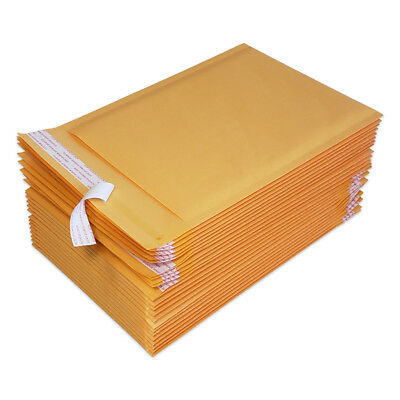 25 1 7.5x11 Kraft Bubble Mailers Padded Envelopes Bags