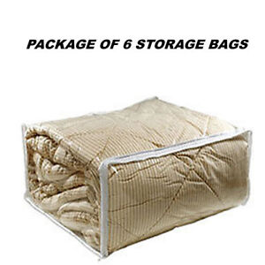 Awesome 6 KING SIZE CLEAR COMFORTER BLANKET SLEEPING BAG STORAGE BAGS(26x29x10