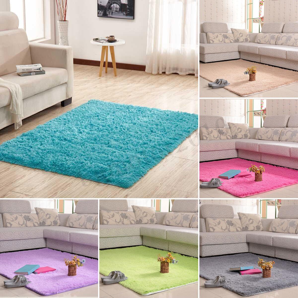Shag Rug Modern Soft Anti-Skid Fluffy Solid Area rugs All Co