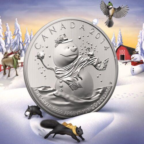 2014 1/4 oz .9999 Fine Silver Canadian Snowman Coin - Low Mintage