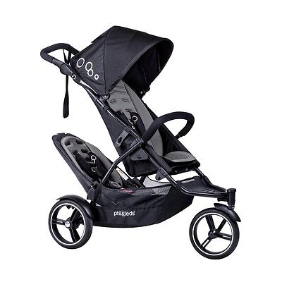 Phil & Teds 2016 Dot V3 Stroller & Double Kit Graphite Brand New!! Open Box!