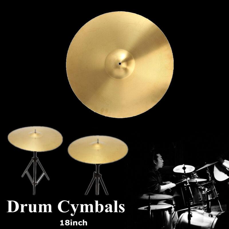 18'' Splash/Hi-hat/Crash/Ride Brass Drum Kit Cymbal For Percussion Drummer Gift