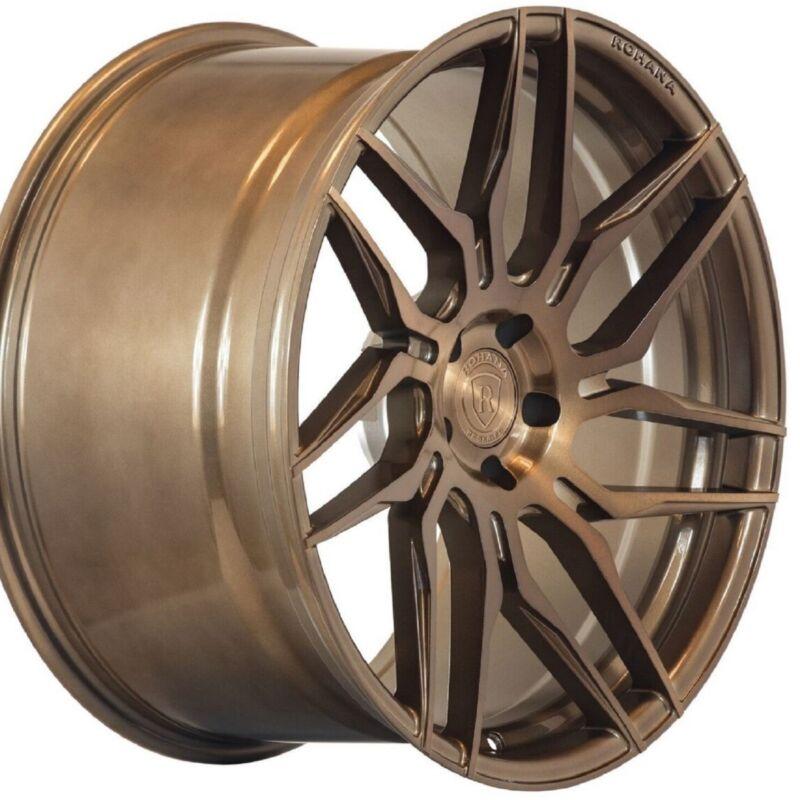 "20"" Rohana Rfx7 20x10 20x11 Forged Bronze Concave Wheels For Chevy Camaro"