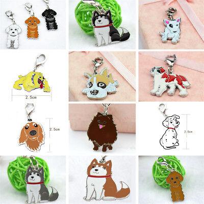 Animal Pet Dog Key Chains Husky The Poodle Boxer Bulldog Pendant Metal Keyrings (Animal Keychains)