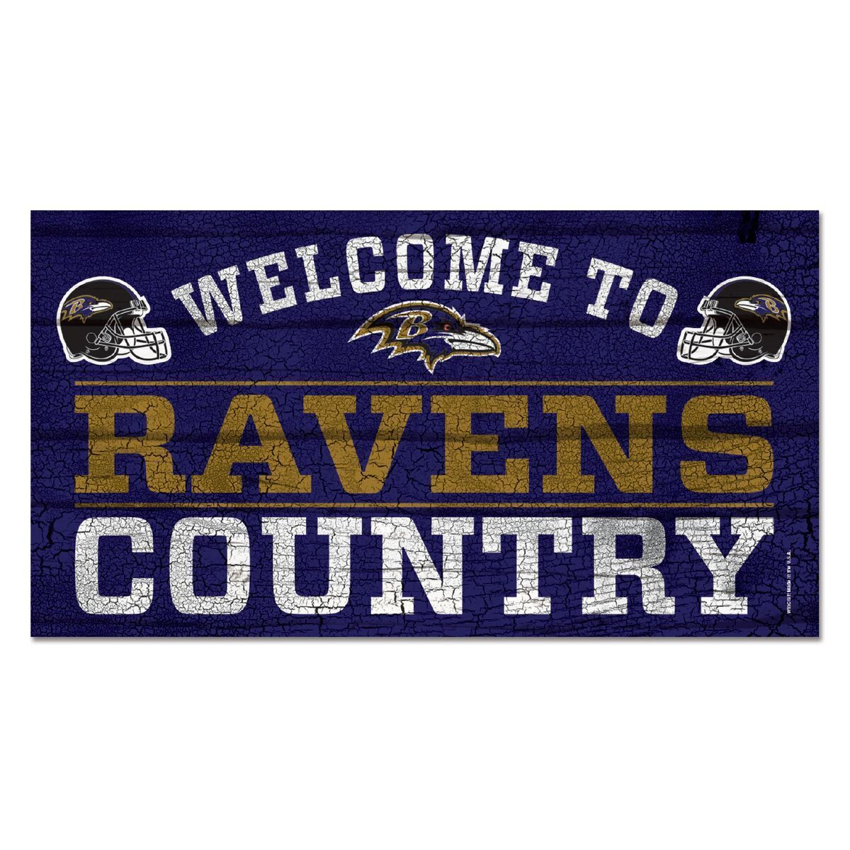 NFL Football Baltimore Ravens Welcome to Country Wood Sign Holzschild Holz
