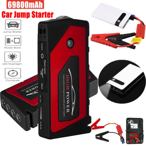 69800/20000mAh 12V Car Jump Starter Portable Power Bank Battery Booster Charger