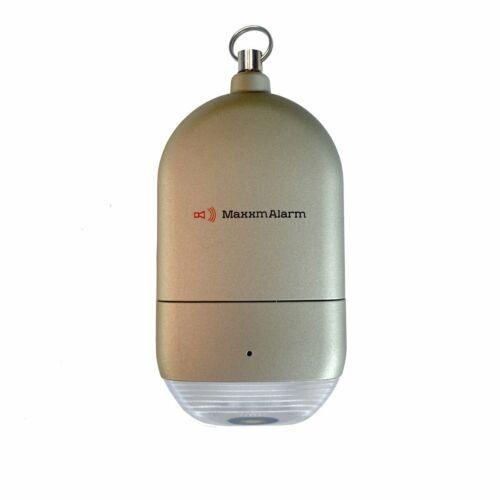 MaxxmAlarm Personal Alarm + LED Light in Gray