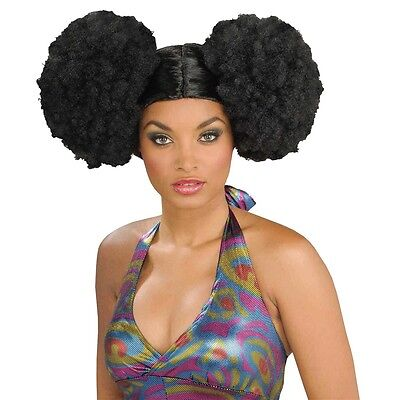 Afro Puffs Wig Adult Womens 70s Disco Costume Accessory Fancy Dress