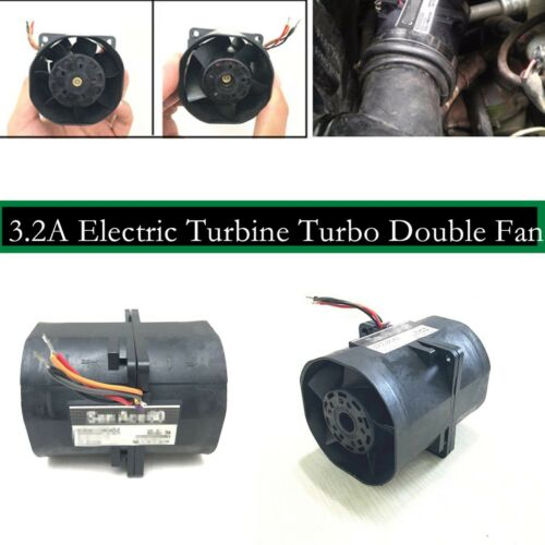 76mm(double Motor)Electric Turbine Turbo Two Fan Charger Boost Intake Fans 3.2A