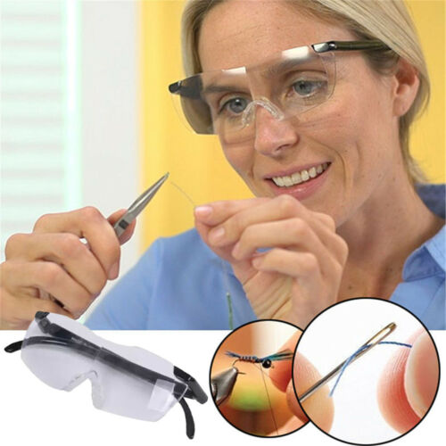 160% Vergrößerungsbrille Lupenbrille Zauberbrille Brille Lupe Vergrößerung Etui