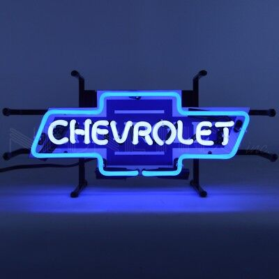 Chevrolet Bowtie Junior Light Car Garage Banner Neon Sign 17