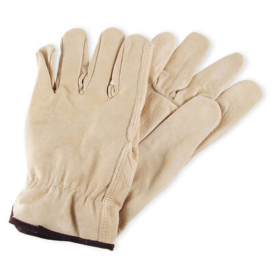 Mens Cowhide Leather Work Gloves By Wells Lamont - Y0135 - L