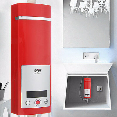 Electric Instant Hot Water Heater Shower System Touch Led Display 5500W Tankless