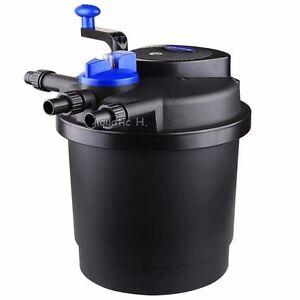 Pressurized bio pond filter w 13w uv sterilizer up to 1600 for Uv pond cleaner