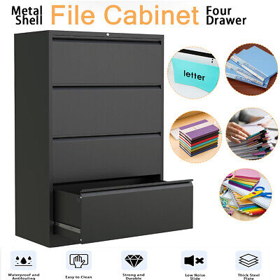 234 Drawers Metal Lateral File Cabinet Office Home Storage Cabinet Lockable