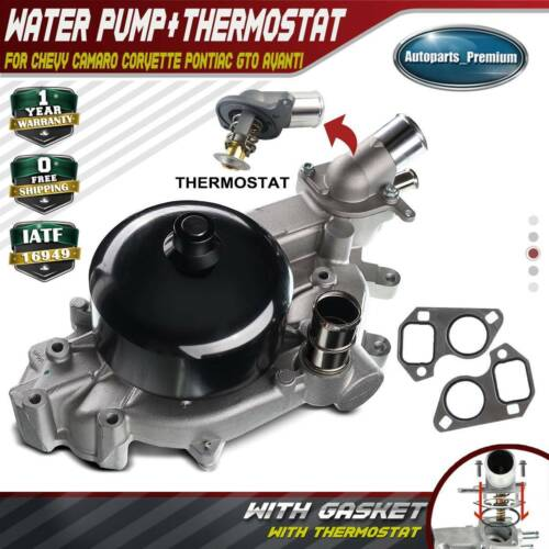Water Pump W/Thermostat Housing For Chevy Camaro Corvette