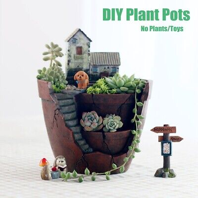 Succulent Plant Resin Planter Herb Flower Cactus Pot Sky Garden Box Container