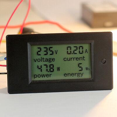 100a Ac 260v Digital Lcd Monitor Watt Power Energy Meter Voltmeter Ammeter Gauge