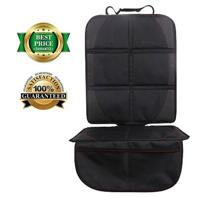 Car Seat Protector (Storage Pocket, Black) by YELLOW-PRICE - Best Child Seat
