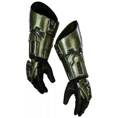Master Chief Gloves Adult Mens HALO Costume Fancy Dress - Halo Master Chief Costumes