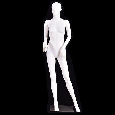 5.8 Ft Female Mannequin Manikin With Metal Stand Plastic Full Body Mannequin