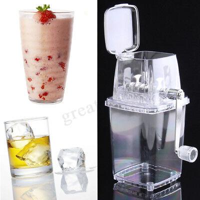 Manual Ice Crusher Shaver Transparent Shredding Machine Portable Snow Cone Maker