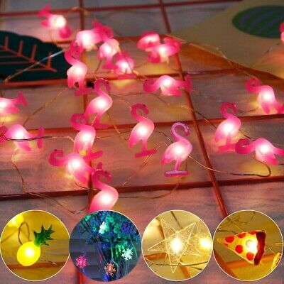 20 LEDs Flamingo String Light Kids Birthday Party Decor Pineapple Wedding Supply