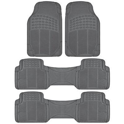 Van Floor Mats for Honda Odyssey 3 Row Rubber Full Set Gray Semi Custom Fit Honda Odyssey Mats