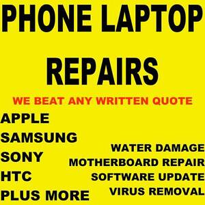PHONE LAPTOP REPAIRS IPHONE IPAD SAMSUNG HTC AND MORE Werribee Wyndham Area Preview