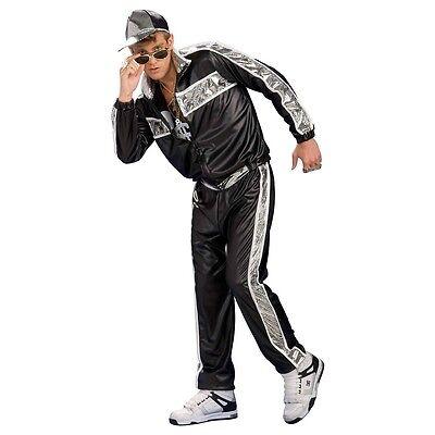 Funny Halloween Fancy Dress (Rap Star Costume 80s/90s Vanilla Hip Hop Funny Halloween Fancy Dress Ice)