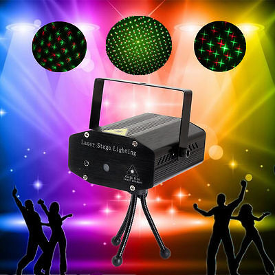 Mini Laser Projector Stage Lights LED R&G Lighting Xmas Party KTV DJ Disco Light