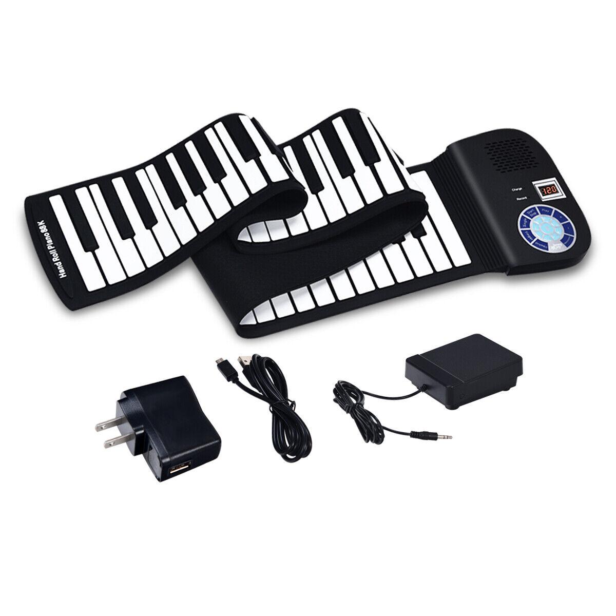 88 key electronic roll up piano keyboard