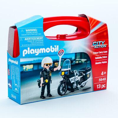 Playmobil 5648 City Action Polizei Set mit Polizist & Motorrad 13 teilig