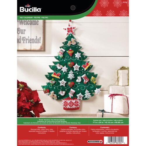 Bucilla Advent Calendar Felt Applique Kit Nordic Tree 86584