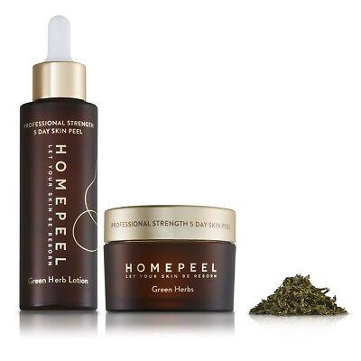 Green Herb Skin Peel - Face Peel, Chemical Peel, Skin Peeling Kit for Home Use