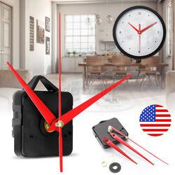 Clock Quartz Movement Mechanism Hands DIY Kit Repair Wall Part Tool