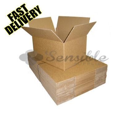 10 x SINGLE WALL POSTAL SHIPPING CARDBOARD BOXES MEDIUM SIZE 17X10X5.5