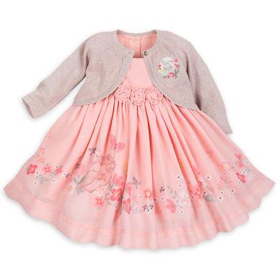 DISNEY STORE MISS BUNNY FANCY DRESS SET SWEATER WITH GLITTER SHEEN BEAUTIFUL!